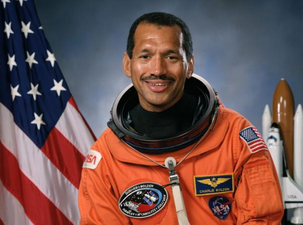 Astronaut Charles F. Bolden Jr. is pictured in 1991, in his official NASA portrait. (NASA)