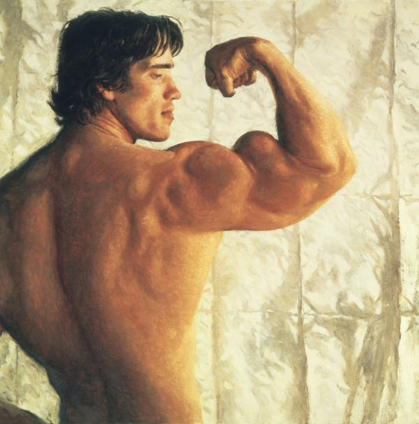 Portrait of Arnold Schwarzenegger, 1977  (Courtesy/Museum of Fine Arts)