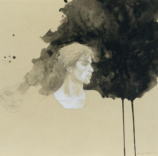 Profile with Black Wash (Study #23), 1977 (Courtesy/Museum of Fine Arts)