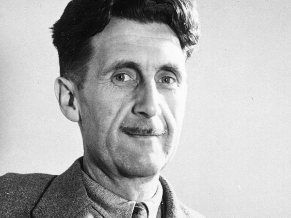 This undated file photo shows writer George Orwell, author of <em>1984.</em> The literary executor of Orwell's estate is accusing Amazon.com of quoting Orwell out of context.