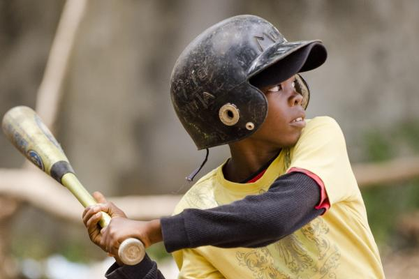 Anderson Desir prepares to swing at a pitch during a tournament in San Pedro de Macoris.
