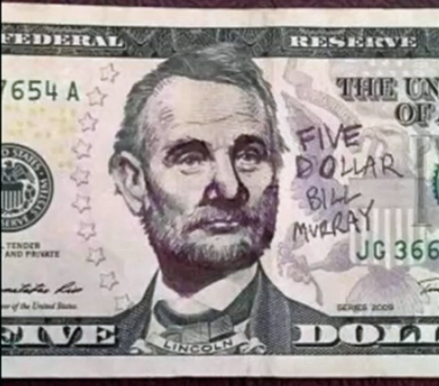 In this screenshot from Avery Miller's YouTube tutorial, Abraham Lincoln is transformed into Bill Murray. (YouTube)