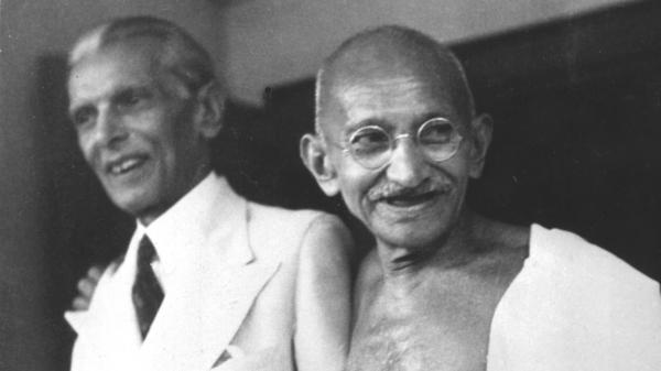 Mohandas Gandhi poses with Muhammad Ali Jinnah, the founder of Pakistan, in 1944, in what was then Bombay. The two countries have been rivals for decades, and students from the two countries have jointly published an online project comparing the different narratives.