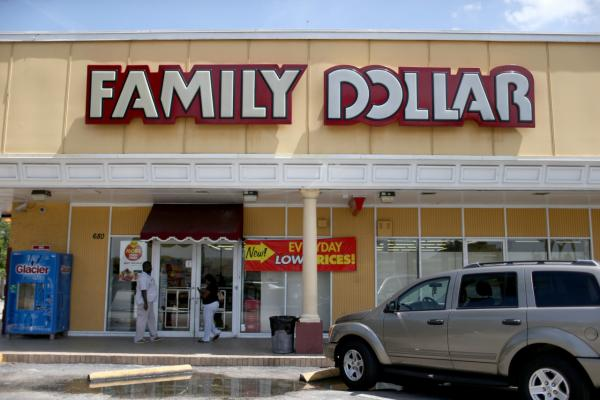 A Family Dollar store is seen on July 28, 2014, in Hallandale, Florida. (Joe Raedle/Getty Images)