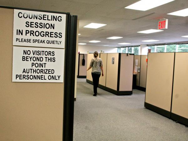 Vital Decisions, where counselors help terminal patients face end-of-life decisions, is a hushed place, filled with the murmur of soothing voices.