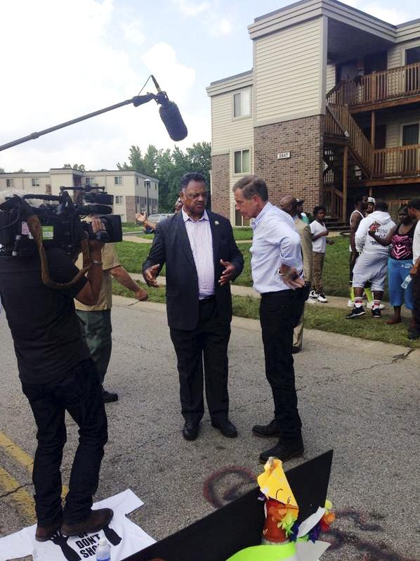 Jesse Jackson talks with NBC Nightly News anchor Brian Williams.