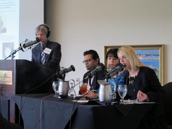 Panel (R-L) Attorney General Pam Bondi; Connie Rose; Dr. Maulik K. Trivedi; and WUSF's Carson Cooper.