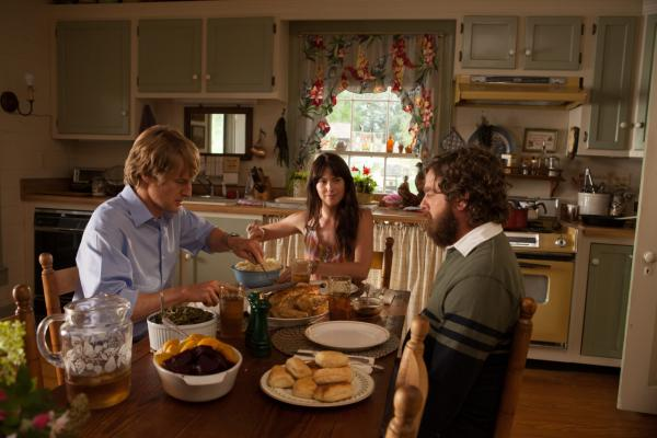"Owen Wilson, Laura Ramsey, and Zach Galifianakis are pictured in a scene from Matthew Weiners's ""Are You Here?"" (Courtesy of Millennium Entertainment)"