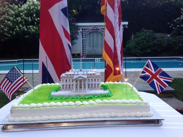 The British Embassy celebrates the burning of the White House. (It was a joke!)