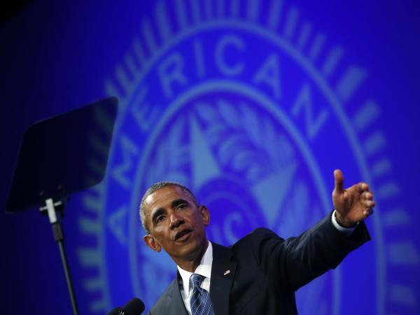 "During a speech at the American Legion's National Convention on Tuesday, President Obama again called the extremist group the Islamic State a ""cancer."""