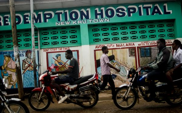 Redemption Hospital, in Liberia's capital of Monrovia, offers free medical care. Since several health care workers were infected with Ebola, people have been afraid to come.