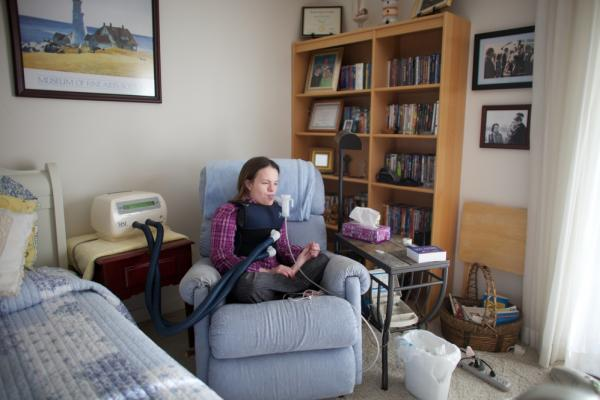"On the wall of her apartment are pictures of Beckett as a child with President Reagan. Reagan created the ""Katie Beckett waiver"" that changed the Medicaid rules to allow severely disabled children and adults to get government-funded care in their own homes."