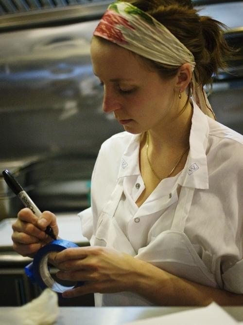Momofuku Milk Bar chef Christina Tosi in her kitchen laboratory.