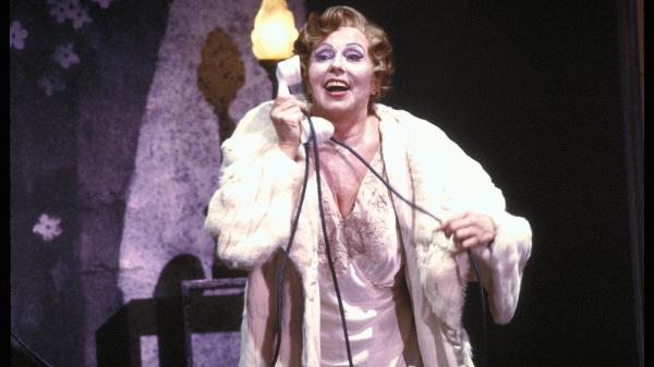 Magda Olivero performing Francis Poulenc's one-woman opera <em>La voix humaine</em> at San Francisco Opera in 1979.