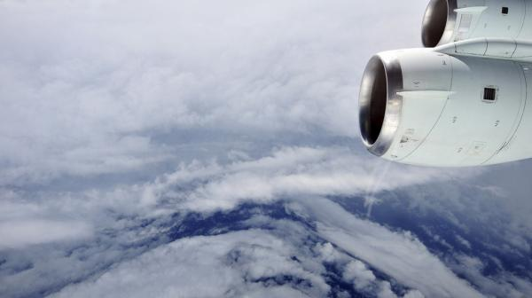The eye of Hurricane Earl in the Atlantic Ocean, seen from a NASA research aircraft on Aug. 30, 2010. This flight through the eyewall caught Earl just as it was intensifying from a Category 2 to a Category 4 hurricane. Researchers collected air samples on this flight from about 30,000 feet over both land and sea and close to 100 different species of bacteria.
