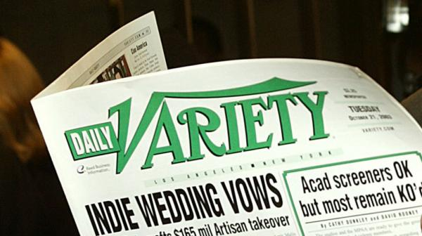 Print versions of<em> Daily Variety,</em> like this one from 2003, will no longer be available on L.A. newsstands. <em>Variety</em> will continue online and in a print weekly, but the daily print edition is being dropped.