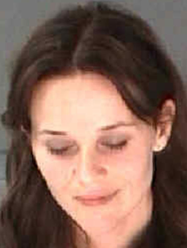 Actress Reese Witherspoon in a photo provided by the City of Atlanta Department of Corrections after her arrest.