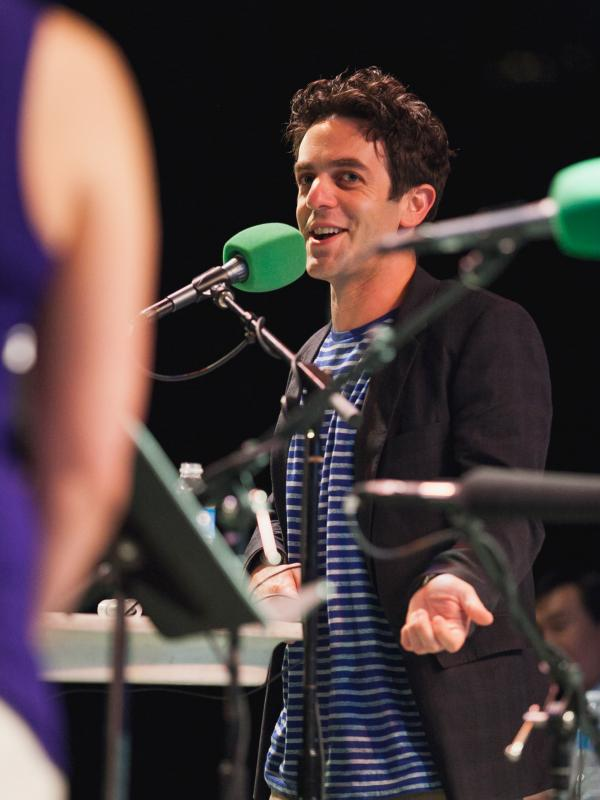 B.J. Novak joined <em>Ask Me Another</em> at Central Park's SummerStage.