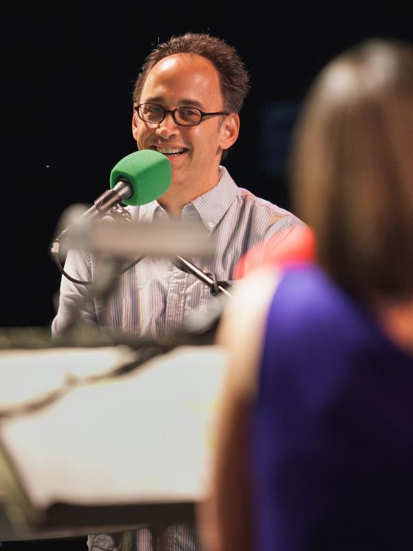 David Wain joined <em>Ask Me Another</em> at Central Park's SummerStage.