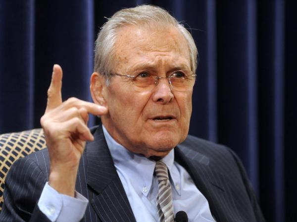 Former Defense Secretary Donald Rumsfeld in 2011.