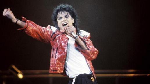 Michael Jackson in New York City, New York on January 1, 1990.