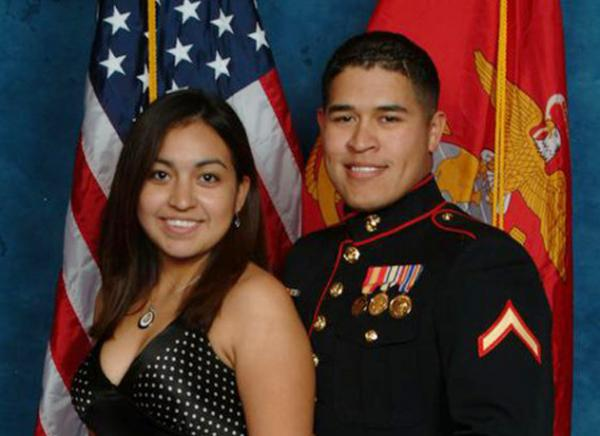Jessica and Anthony at their first Marine Corps Ball in November 2007.