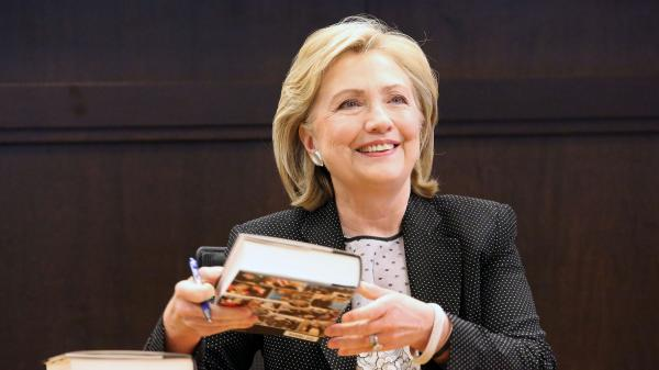 Former Secretary of State Hillary Clinton signed copies of her book <em>Hard Choices</em> earlier this month at a Barnes & Noble store in Los Angeles.