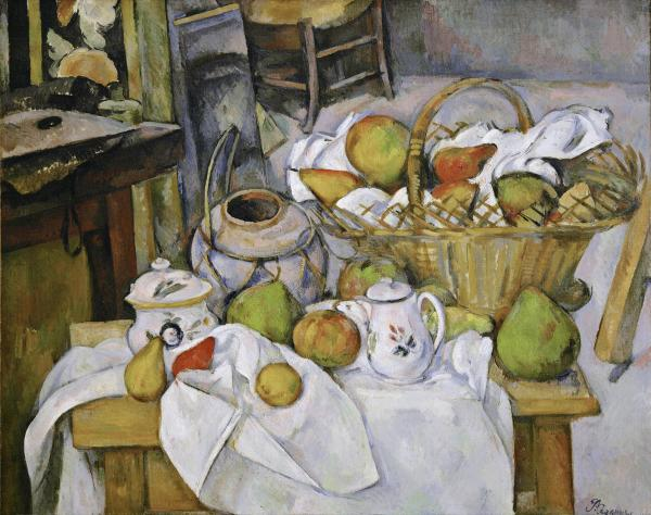 "<em>The Kitchen Table (La </em><em>table de cuisine)</em> by Paul Cezanne, 1888-18€""90."