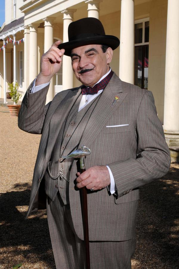 David Suchet has been playing Poirot since 1989. The actor has grown into the role, including perfecting the twinkle in his eye.