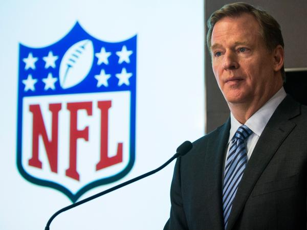 NFL Commissioner Roger Goodell, shown here in January, has sent an open letter to NFL team owners explaining the league's new policies for preventing and punishing domestic violence and sexual assault.