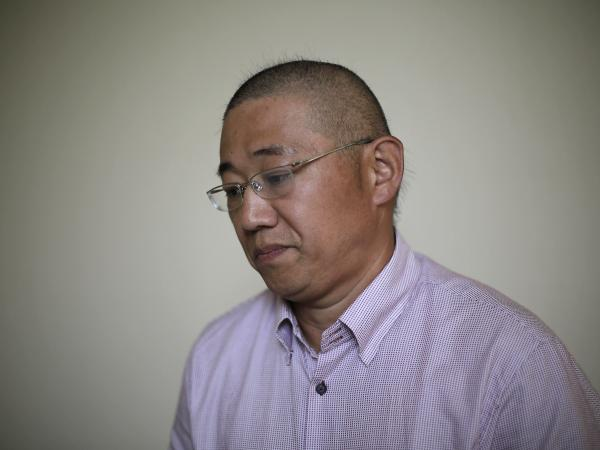 Kenneth Bae, an American tour guide and missionary serving a 15-year sentence in North Korea, speaks to The Associated Press on Monday. Bae and two other detained Americans urged the U.S. to send a high-level emissary to secure their release.