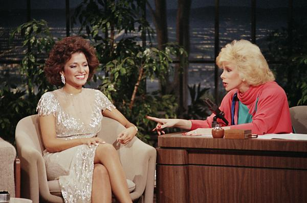 Rivers became permanent guest host for <em>The Tonight Show</em> in 1983, a gig that ended when she left to host her own late-night show on Fox. Here she interviews Miss America Suzette Charles in 1984.