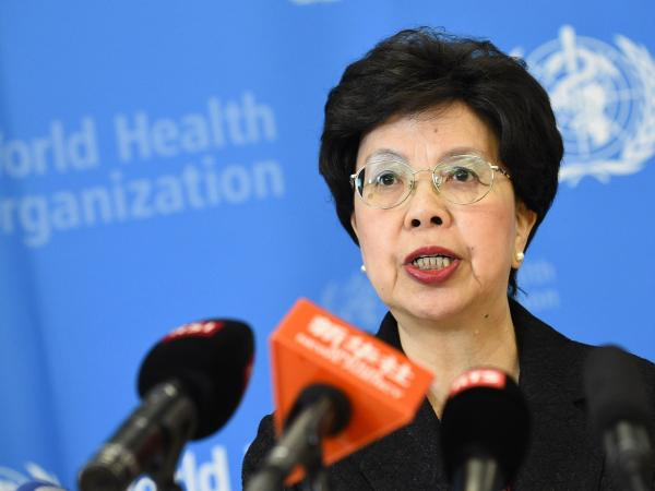 Margaret Chan, director-general of the World Health Organization, talks to the press in August after an emergency meeting on the Ebola outbreak.