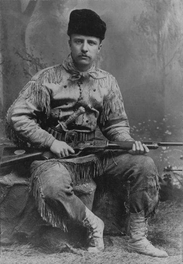 Theodore Roosevelt, seen here in 1885, was haunted by the fact that his father didn't fight in the Civil War.