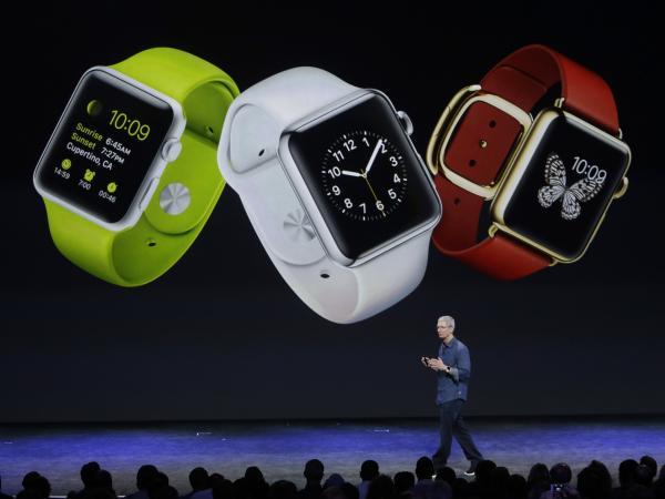 Apple CEO Tim Cook introduces Apple Watch on Tuesday in Cupertino, Calif.