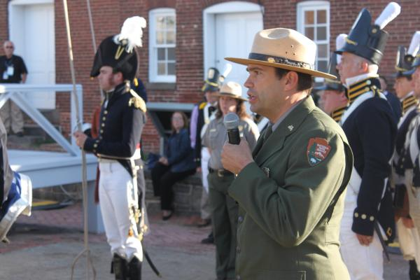 Fort McHenry Ranger Vince Vaise recounted how the Star-Spangled Banner came to be, down to the weather on that day.