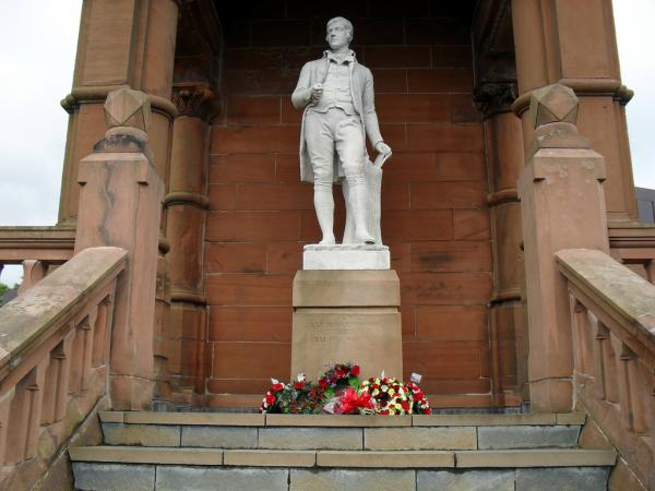 The poet Robert Burns was part of a vanguard rekindling the use of Scots in poetry and literature in the 18th century.