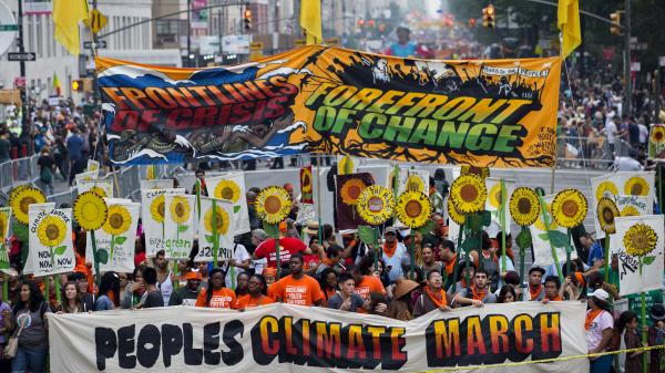 global climate change march
