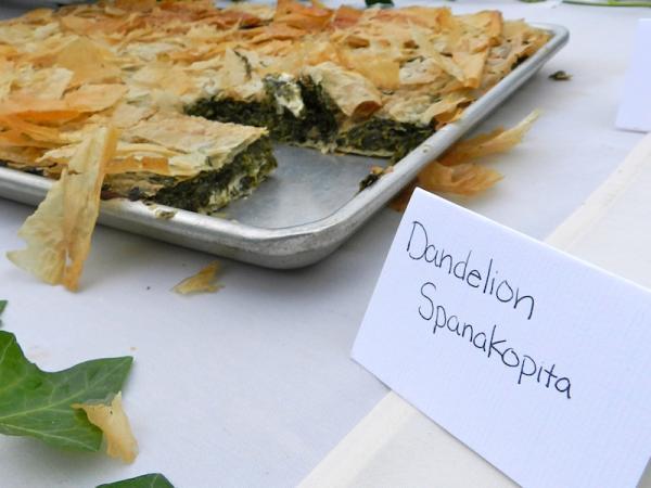 Dandelion spanakopita from the 2013 invasive species cook-off.