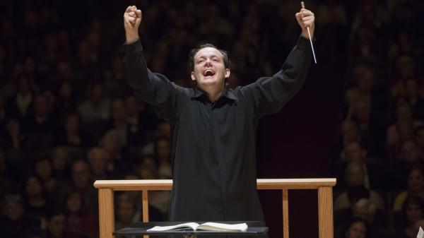"""The music's kind of oozing out of not just his hands, but his whole body,"" Boston Symphony managing director Mark Volpe says of the orchestra's new music director, Andris Nelsons."