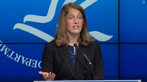Health and Human Services Department Secretary Sylvia Burwell spoke about the Affordable Care Act's health insurance marketplace on Sept. 23, 2014 at the Brookings Institution.