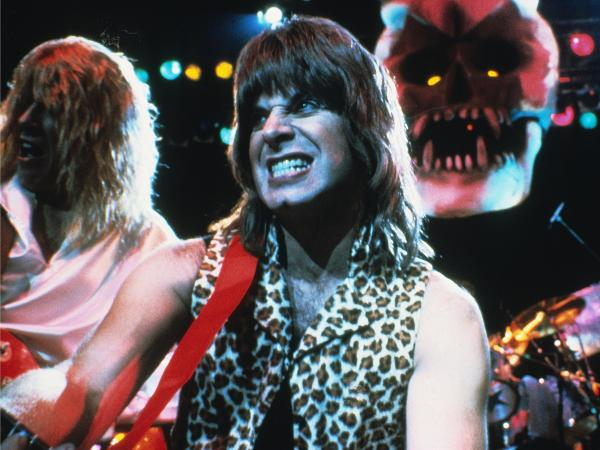 Christopher Guest as Nigel Tufnel, lead guitarist for the entirely fake band Spinal Tap, in the band's 1983 mockumentary.