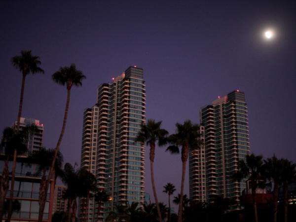 Downtown San Diego is dark after a massive blackout hit Southern California on Thursday.  Approximately 1.5 million residents from Southern Orange County to Northern Baja were without power.