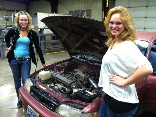 Brandi and Kaylee plan to open a truck repair shop when they graduate from high school.
