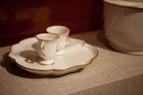 After the labor of preparation, the ice cream would be served in small dishes resembling teacups with handles to keep the delicacy from melting from hands around the dish.