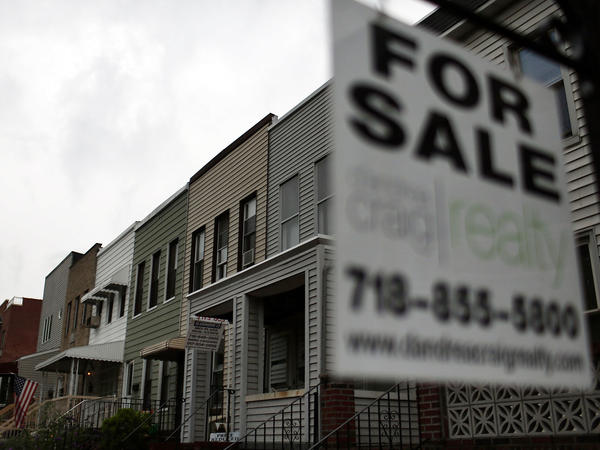 "This ""For Sale"" sign was hanging outside a home in Brooklyn, N.Y., earlier this month."