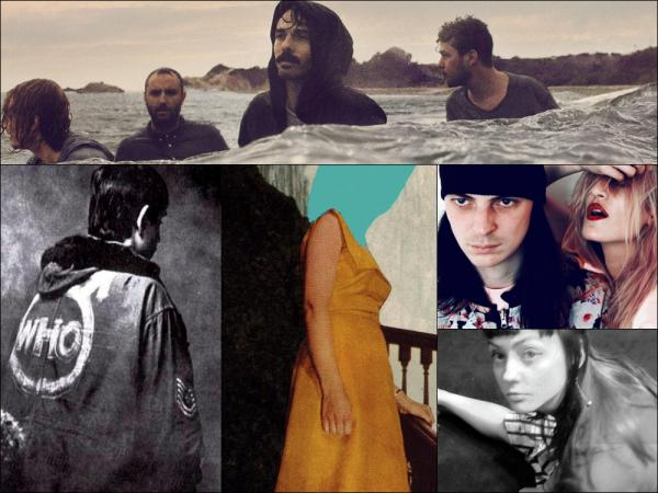 Clockwise from top: Local Natives, IO Echo, Angel Olsen, cover art for Gospel Claws and The Who's <em>Quadrophenia.</em>