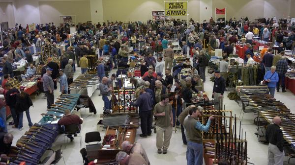 The crowd was large at a March 2012 gun show in Saratoga Springs, N.Y.