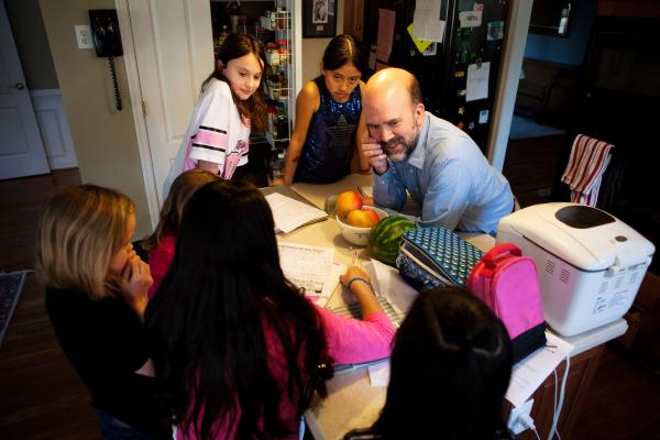 Brown, who is the director of music at the Ginter Park Presbyterian Church, moved to a six-day workweek so that he can leave early on weekdays to meet his girls when they get home from school at 3 p.m.