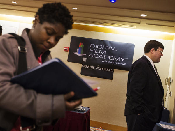 The scene at a job fair in New York City on Feb. 28.